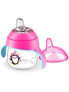 Tasse à bec anti-fuites pingouin 200 mL Philips Avent rose TAS BEC ROSE / 20PRR2003VAI030