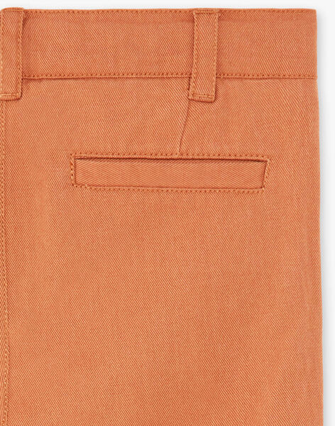 Pantalon enfant garçon chino couleur pécan CLARK 468 21 / 21V129215N03804