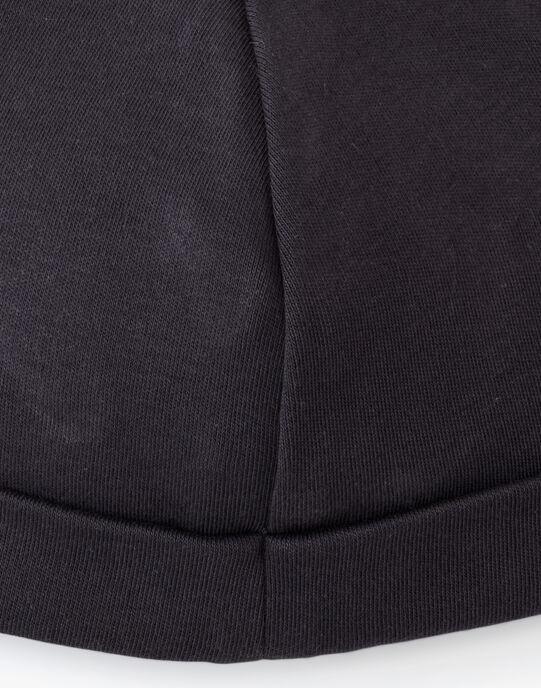 Bonnet naissance mixte brodé en coton pima ardoise AMIRE 20 / 20PV7013N63J900