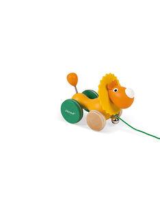 Lion à promener Zigolos orange et vert LION A PROMENER / 18PJJO007JBO999