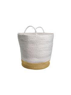 Grand panier coton bio Fabelab blanc cassé et ocre GD PANIER OCRE / 19PCDC005APD999