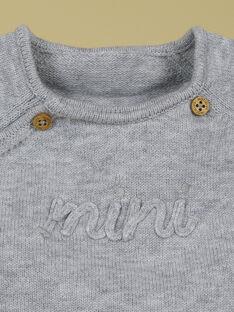 Brassière de naissance mini gris chiné mixte TAQUIN 19 / 19PV2424N2A943