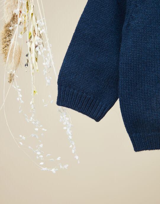 Gilet en tricot jersey bleu canard garçon VARSOVIE 19 / 19IU2021N12714