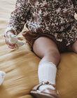 Blouse écrue et marron imprimé fleuri bébé fille DARLA 21 / 21IU1911N09003