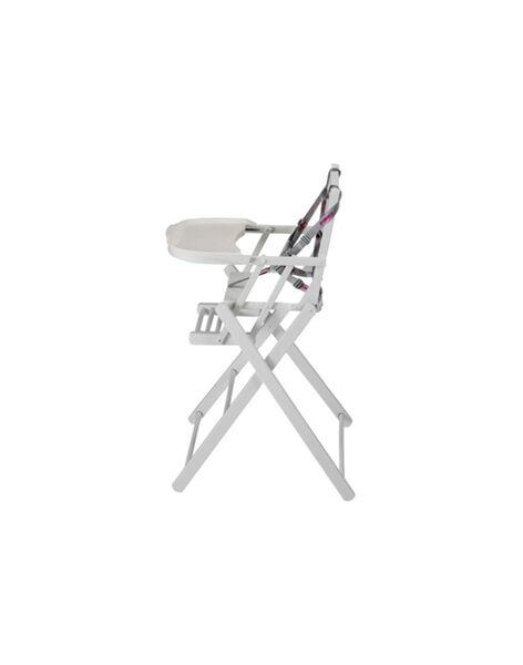 Chaise haute extra-pliante laquée blanc CHAIS PLIANT BL / 15PRR2007CHH000