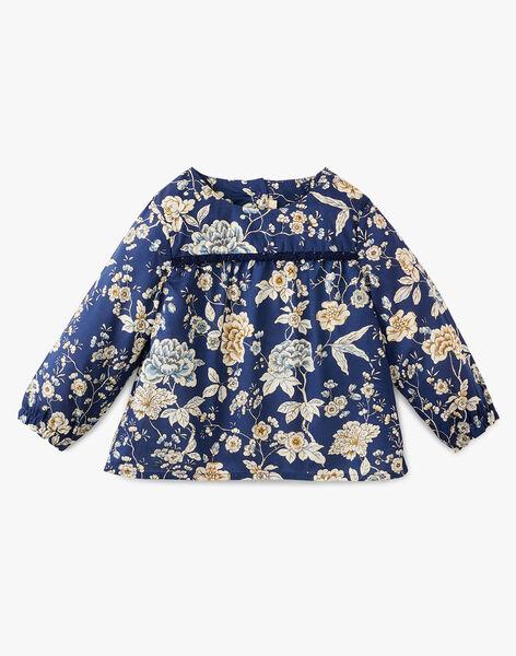 Blouse fille en imprimé floral Liberty couleur marine  ANATH 20 / 20VU1918N09099