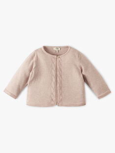 Cardigan fille coton cachemire couleur naturel chiné  ANAIS 20 / 20VU1911N11A010