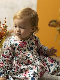 Robe multicolore manches longues bébé fille  VIRGINIE 19 / 19IU1914N18099