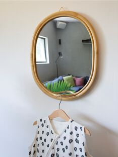 Miroir ovale rotin 32x35 MIR ROTIN 32X35 / 21PCDC017DMU999