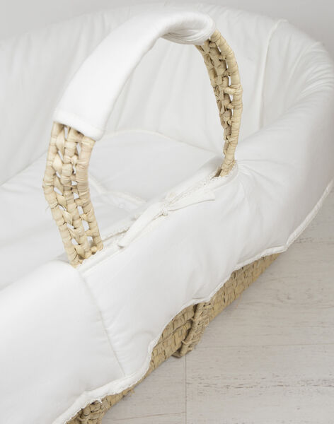 Couffin en osier Natalys blanc COUFFIN PALME / 19PBDP001COU999