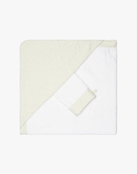 Cape de bain vert pale matelassé mixte  APPOLIN-EL / PTXQ6412N73602