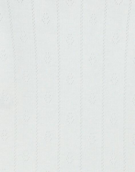 Body fille manches courtes vanille en ajouré fantaisie coton pima   DANAEL 21 / 21PV2213N2D114