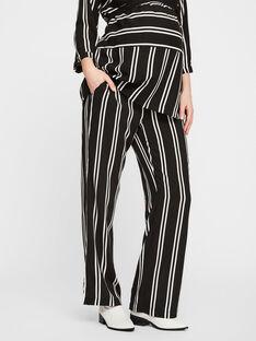 Pantalon à rayures noires et blanches de grossesse MLEBONY PANTS / 19VW2682N03090