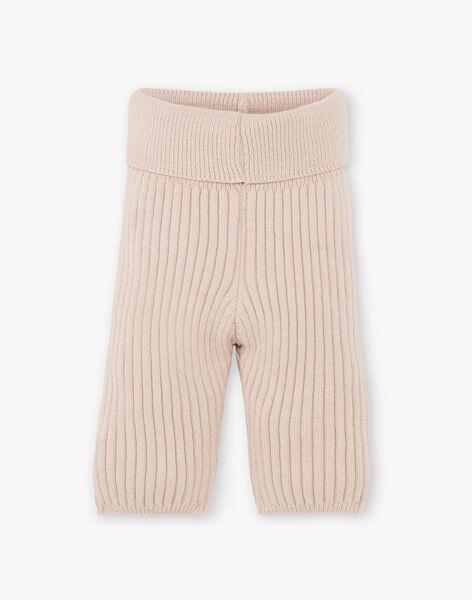 Pantalon tricot mixte noix en côtes coton laine mérinos   DINAMO 21 / 21PV2413N3AI812