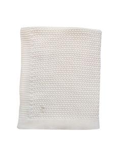 Couverture tricot Mies & Co blanc cassé 80x100 cm 0-6 mois COUV TRICOT BL / 19PCTE006DEL999