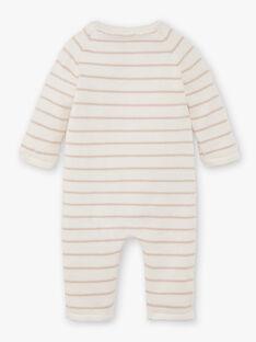 Combinaison tricot rayée vanille DESIREE 21 / 21PV2413N26114