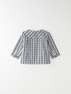 Chemise à carreaux bleu marine, blancs et bleus BRADLEY 20 / 20IU2083N0A114