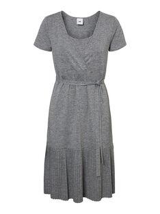Robe d'allaitement grise MLKADA DRESS / 19VW2682N18943
