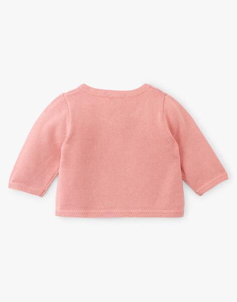 Cardigan fille coton pima couleur rose thé  ASTASIA 20 / 20VV2212N11D329