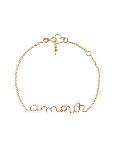 "Bracelet ""Amour"" Padam Padam doré 14K 0,6x6,2x4,6 cm CHAINE DORE AMO / 19PCTE005BIJ999"