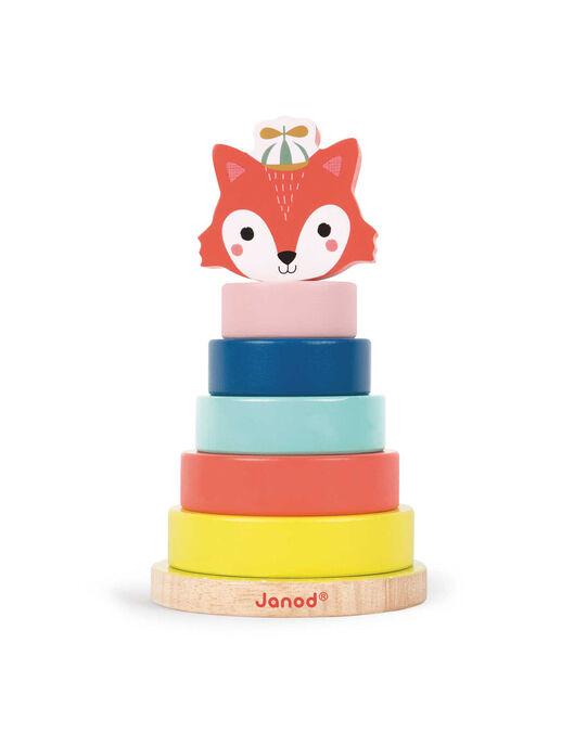 Renard à empiler Janod multicolore 10x17,5 cm dès 1 an EMPILABLE RENAR / 16PJJO003JBO999