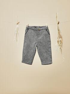 Pantalon noir en lainage chevron bébé garçon VILLY 19 / 19IU2011N03090