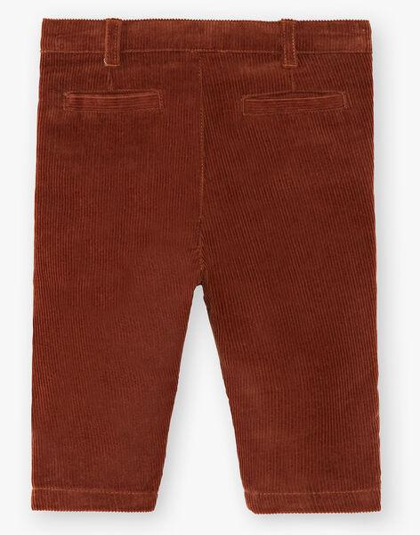 Pantalon chino rouille garçon  BRAD 20 / 20IU2084N03408