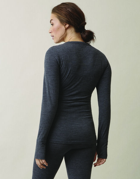 Tee-shirt laine mérinos bio Boob gris BOMERINO WOOL T / PTXW2611N0FJ921