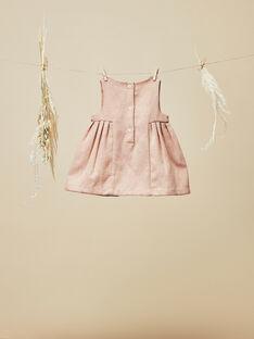 Robe chasuble rose pétale fille  VINA 19 / 19IV2214N18309