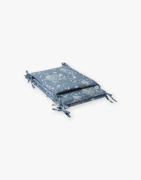 Tour de lit bleu horizon en popeline de coton mixte  ROLAND-EL / PTXQ6418N74216