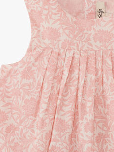 Robe fille avec bloomer intégré en Liberty floral rose thé  ALIX 20 / 20VV2214N18D329