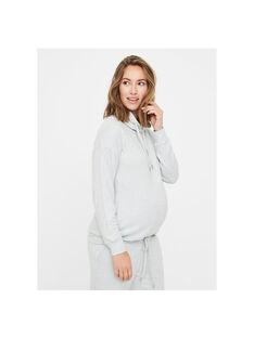 Haut de grossesse doux & stretch Mamalicious gris MLJANNI TOP / 19IW2662N0F943
