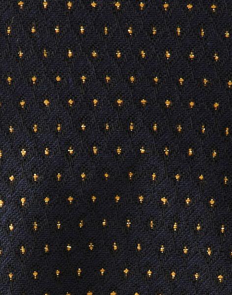 Barboteuse fille bleu nocturne en jacquard pois lurex doré   BACOLINE 20 / 20IV2252N27713