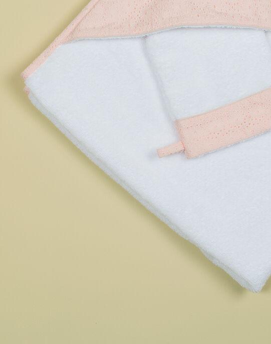 Pointe éponge vanille et rose brodé fille TEBEPONGEFI 19 / 19VQ6221N73114