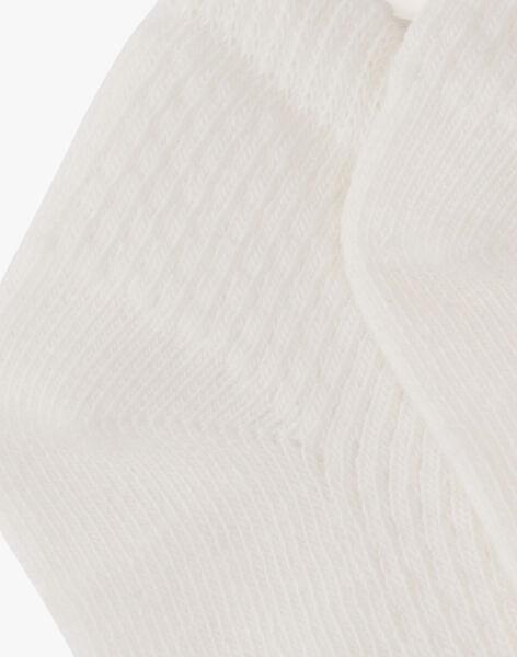 Chaussette courte vanille garçon  ALBERTINO 20 / 20VU6112N47114