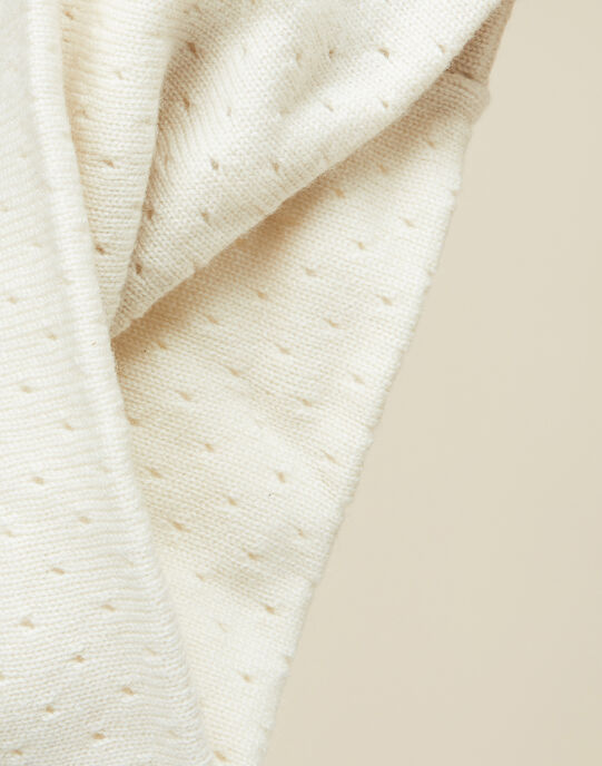 Snood tricot vanille bébé fille   VELALETTY 19 / 19IU6031N50114