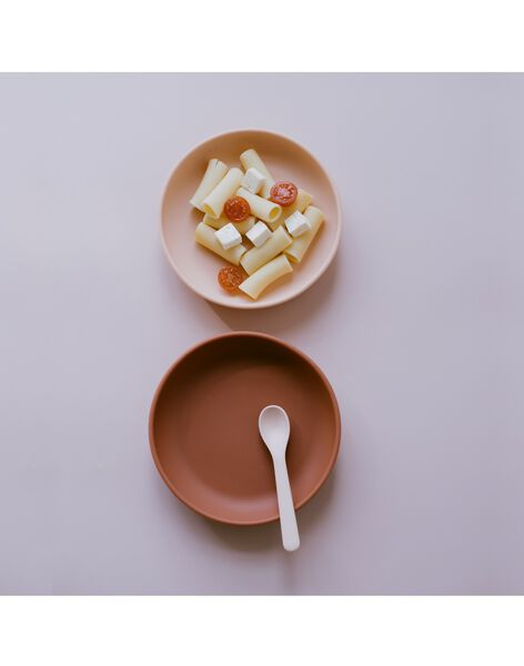 2 assiettes ventouse en silicone blush/ terracota ASS SILI BLUSH / 21PRR2010VAI999