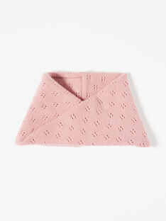 Snood fille blush tricot fantaisie en laine mérinos et cachemire  BENJAMINE 20 / 20IU60C1N50D300