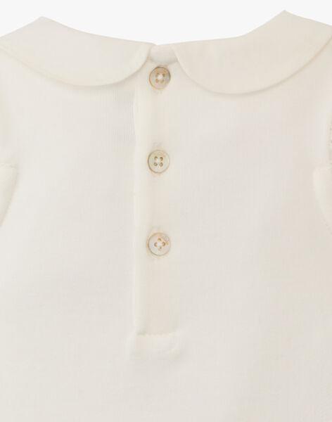 Body fille vanille en coton pima et broderie anglaise  ANASSIA 20 / 20VV2211N29114