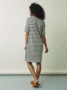 Robe de grossesse & allaitement coton bio Boob rayures BOBRETON DRESS / 20VW2645N18009