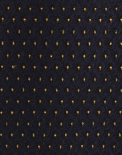 Manteau fille bleu nocturne en jacquard pois lurex doré   BERTILLE 20 / 20IU1982N16713