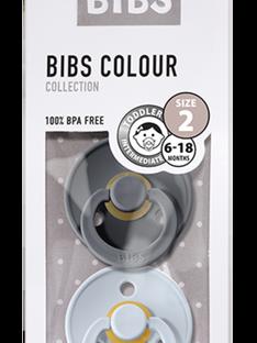 Duo de sucettes T2 Bibs grise & bleue 6-18 mois SUC 2 IRON BLUE / 19PRR1009SUC999