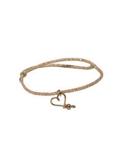 """Bracelet """"Mon cœur"""" Padam Padam à paillettes doré & rose 1,5x6,5x5 cm COEUR DORE ROSE / 19PCTE006BIJ999"""