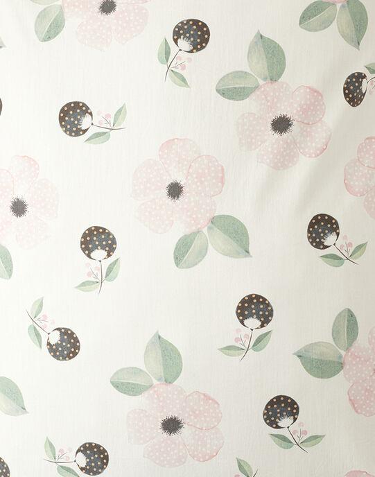 Taie d oreiller vanille imprimé fleurs fille 60x40 cm  AMAYA-EL / PTXQ6211N86114