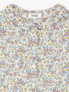 Blouse manches courtes fille imprimé Liberty CLARISSE 21 / 21VU1914N09114