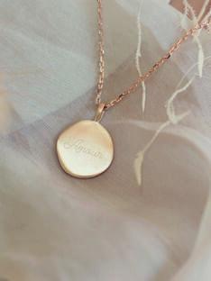 Collier médaille amour COLLIER AMOUR / 21PCTE006BIJ999