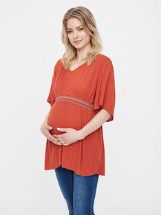 Tunique de grossesse Mamalicious rouge brique MLJULES BLOUSE / 19IW2662N3E506