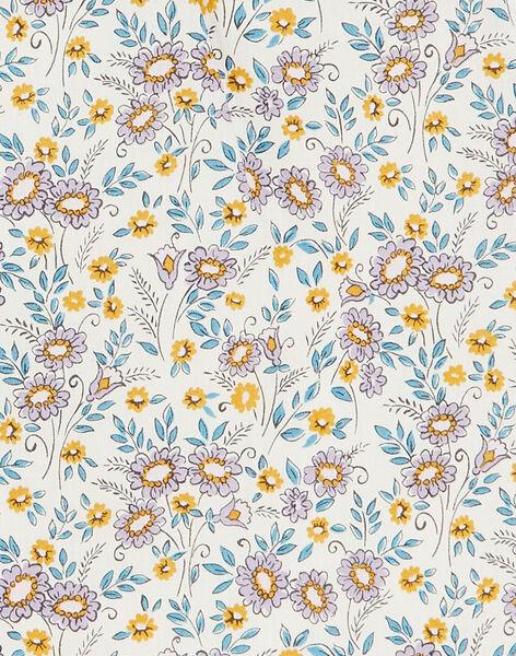 Robe et bloomer vanille et jaune imprimé liberty en coton fille CADIX 21 / 21VV2212N18114