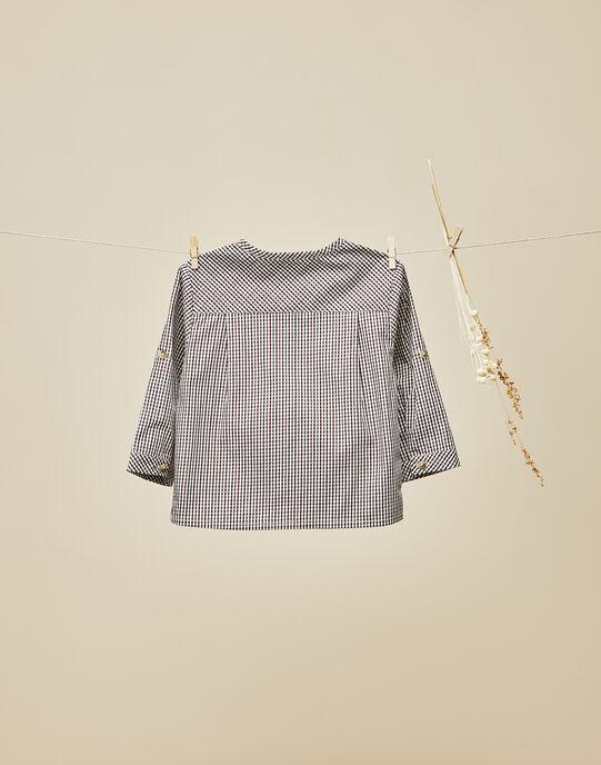 Chemise à carreaux gris grenat bébé garçon  VOLTAIRE 19 / 19IU2011N0A511