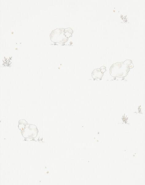 Body mixte manches longues vanille en coton pima imprimé moutons  DILI 21 / 21PV7512N2D114